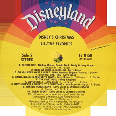 Disneylandrecords Com 1v 8150 Disney S Christmas All