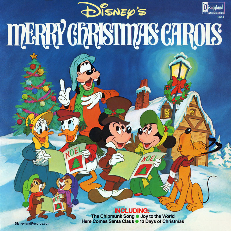 record artwork back - Mickey Mouse Christmas Songs