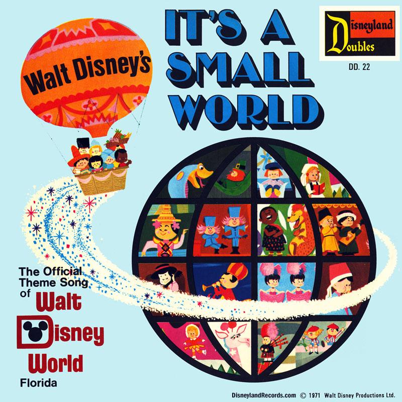 Disneylandrecords dd22 its a small world record artwork back publicscrutiny Images