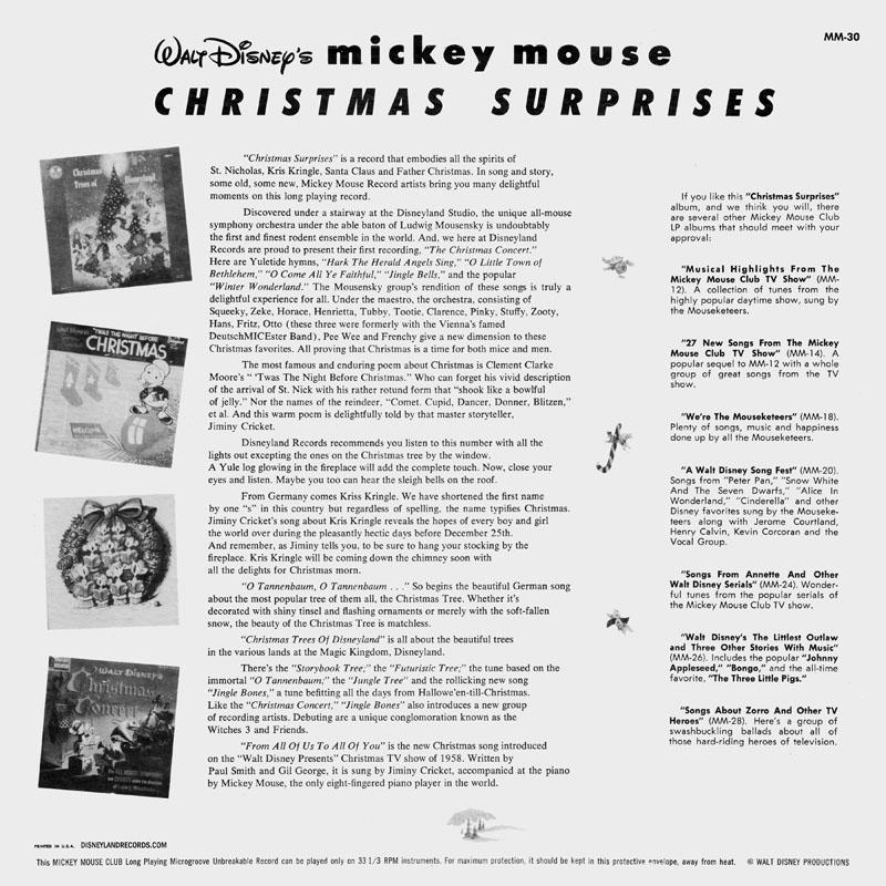 DisneylandRecords com - MM-30 Walt Disney's Mickey Mouse